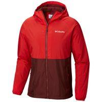 Columbia Men's Spire Heights Jacket (Elderberry, Red Spark)
