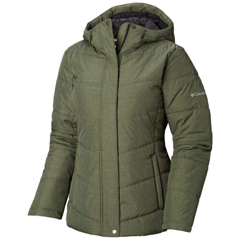 Columbia Womens McCleary Pass Jacket (Surplus Green Heather/Bloodstone Heather)