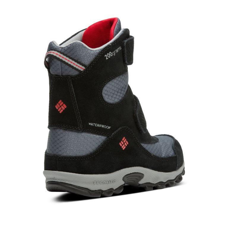 YOUTH PARKERS PEAK™ BOOT | 053 | 1 Botte Velcro Parkers Peak™ Junior, Graphite, Bright Red, 3/4 back