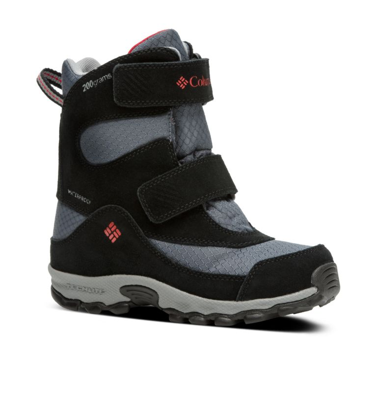 YOUTH PARKERS PEAK™ BOOT | 053 | 1 Botte Velcro Parkers Peak™ Junior, Graphite, Bright Red, 3/4 front