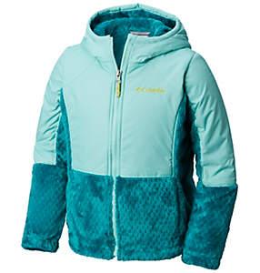 Girls' Fluffy Fleece™ Hybrid Full Zip Jacket