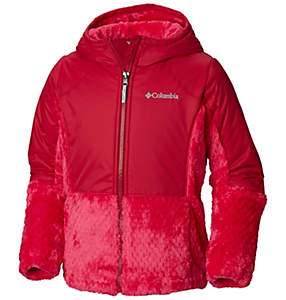 Girls' Fluffy Fleece™ Hybrid Full Zip Jacket