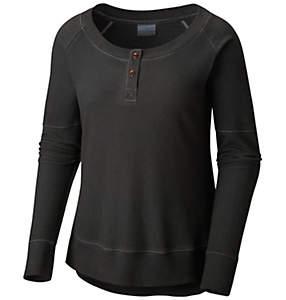 Women's Fall Pine™ Washed Henley Shirt – Plus Size