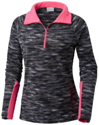 Women's Glacial™ IV Print Half Zip Pullover - Plus Size   Tuggl