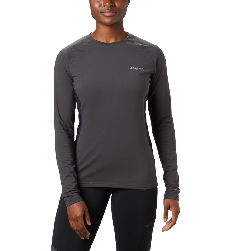 Women's Titanium OH3D™ Knit Crew Top Women's Titanium OH3D™ Knit Crew Top, front