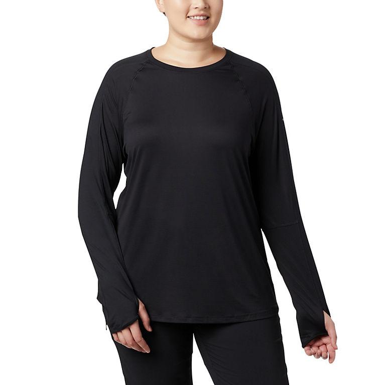 0b81240d011 Black Women s Layer Upward™ II Long Sleeve Shirt - Plus Size