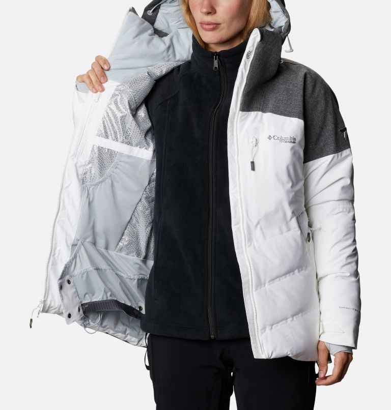 Powder Keg™ II Down Jacket | 101 | XL Women's Powder Keg™ II Ski Down Jacket, White, Cirrus Grey, a3