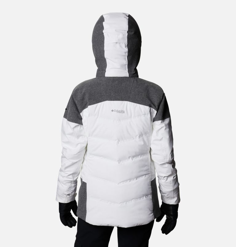 Powder Keg™ II Down Jacket | 101 | XL Women's Powder Keg™ II Ski Down Jacket, White, Cirrus Grey, back