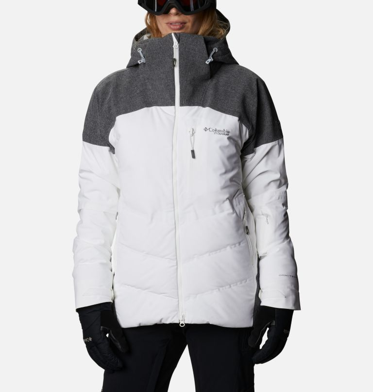 Powder Keg™ II Down Jacket | 101 | XL Women's Powder Keg™ II Ski Down Jacket, White, Cirrus Grey, front