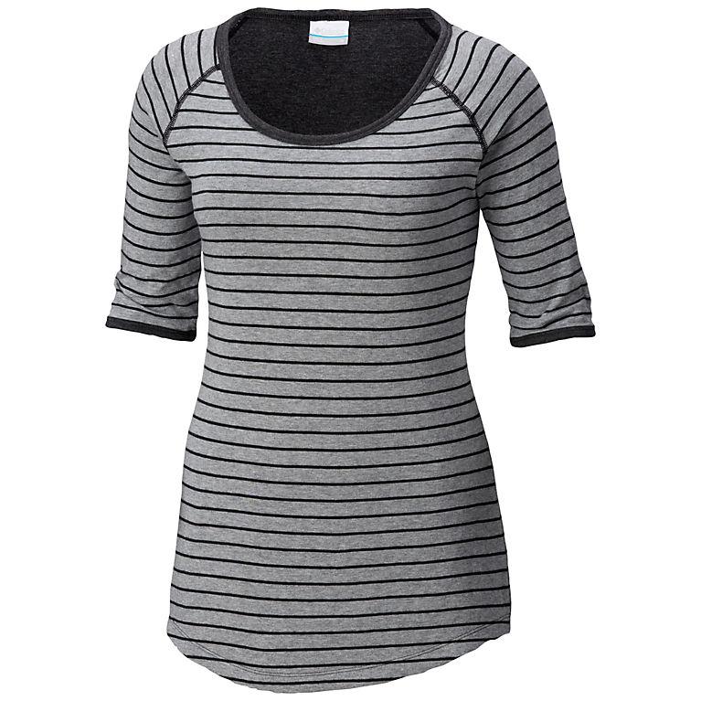 dd8f6980a34fc Light Grey Stripe Women s Winter Adventure™ Short Sleeve Stripe Tee