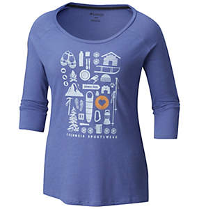 Women's Camp Stamp™ 3/4 Sleeve Tee