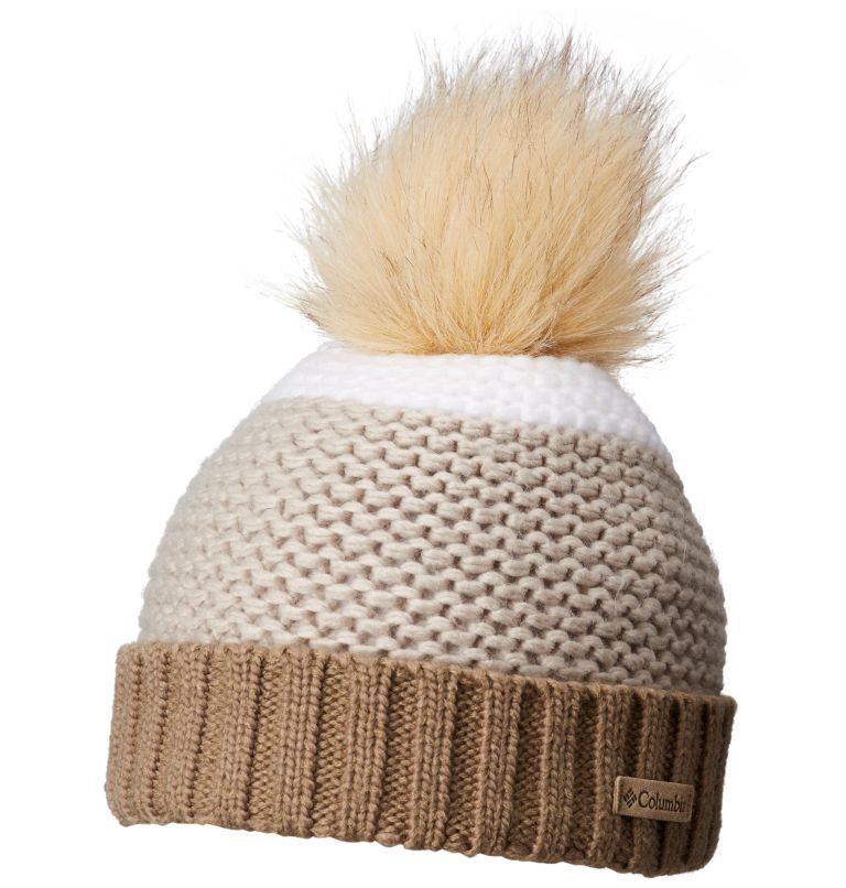 Holly Peak™ Pom Pom Beanie | 211 | O/S Bonnet À Pompon Heavenly™ Unisexe, Truffle, front