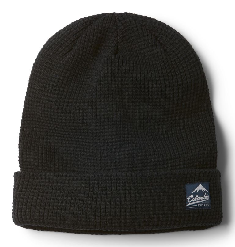 Lost Lager™ Waffle Beanie | 010 | O/S Lost Lager™ Waffelstrick-Beanie Unisex, Black, front