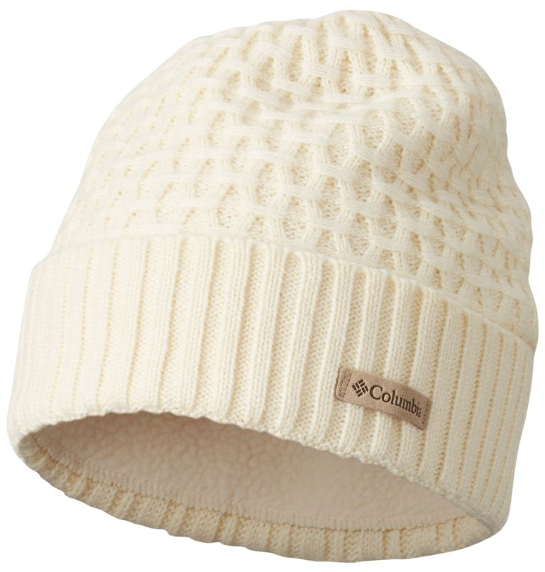 Hideaway Haven™ Cabled Beanie | 106 | O/S Unisex Hideaway Haven™ Cabled Beanie, Light Bisque, front