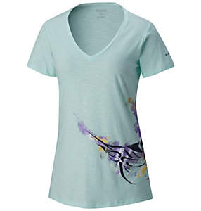 Women's PFG™ Marlin Short Sleeve V-Neck