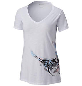Women's PFG™ Marlin Short Sleeve V-Neck - Plus Size