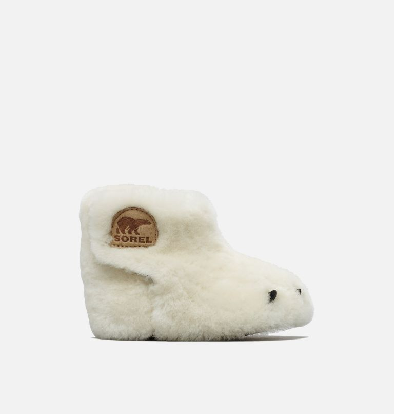 CHILDRENS SOREL™ BEAR PAW SLIPPER | 125 | 10 Little Kids' SOREL™ Bear Paw Slipper, Sea Salt, Beach, front