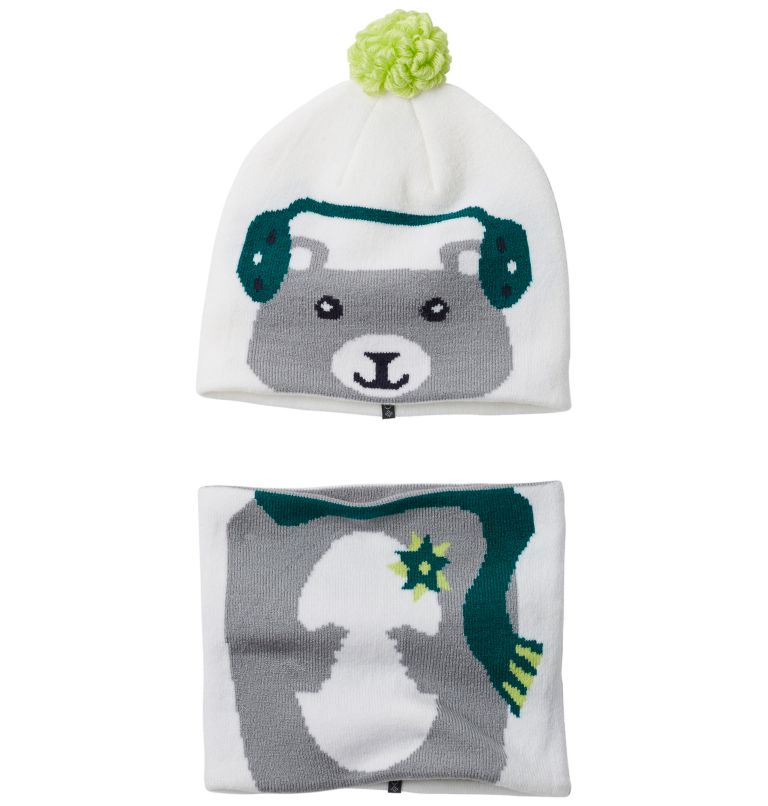 Snow More™ Beanie and Gaiter S | 100 | O/S Toddlers' Snow More™ Beanie and Gaiter Set , White Bear, front