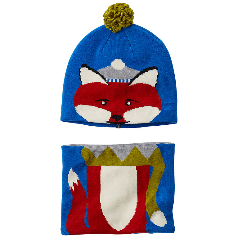 Super Blue Fox Toddler Snow More™ Beanie and Gaiter Set 0f82fff3e678