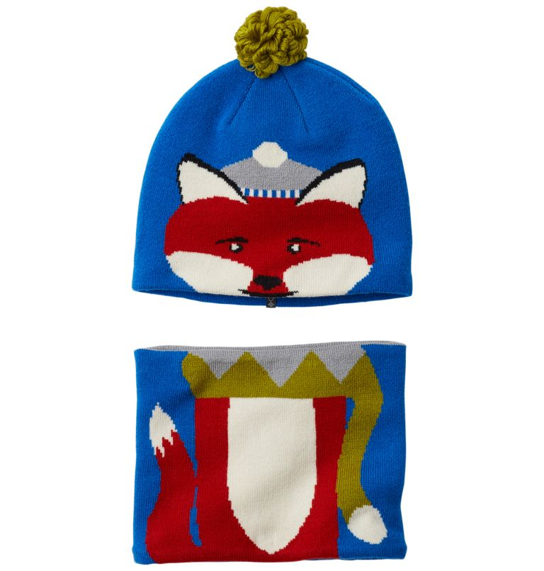 Snow More™ Beanie and Gaiter S | 438 | O/S Toddlers' Snow More™ Beanie and Gaiter Set , Super Blue Fox, front