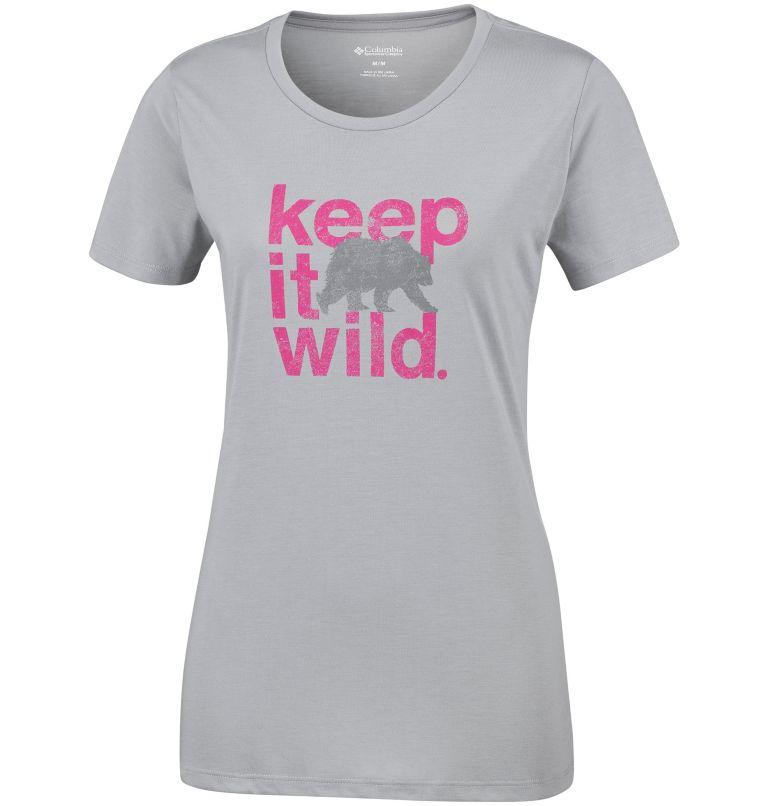 Outdoor Elements™ III Tee   039   XL T-Shirt Outdoor Elements™ III Femme, Columbia Grey, Keep it Wild, front