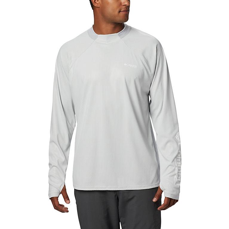 6b933c65 Cool Grey Men's PFG Terminal Deflector ZERO™ Long Sleeve, View 0
