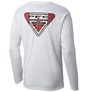 Men's Terminal Tackle PFG State Triangle Flag Long Sleeve Shirt