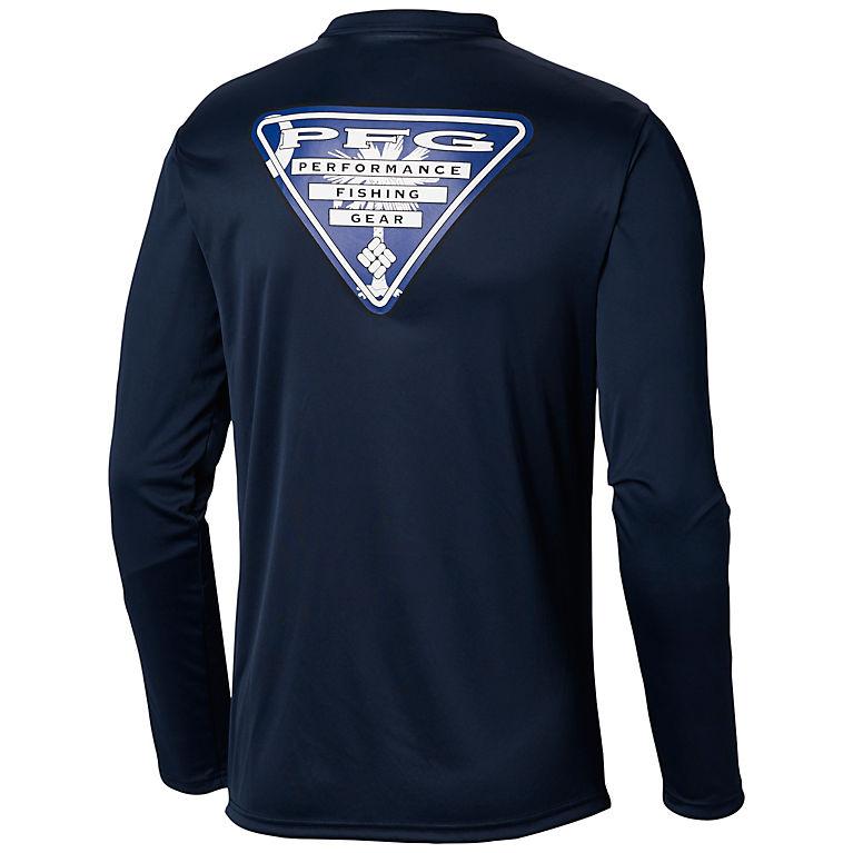 25ec43a2baf Collegiate Navy, SC Flag Men's Terminal Tackle PFG State Triangle Flag Long  Sleeve Shirt -