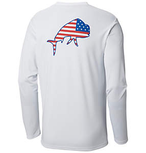 Men's Terminal Tackle PFG Americana Fish™ Long Sleeve Shirt