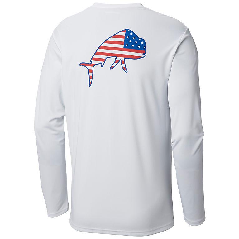 5a40b2408f1 White, Dorado Men's PFG Terminal Tackle Americana Fish™ Long Sleeve Shirt,  ...