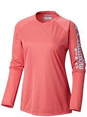 e049cf5da94 Women s PFG Tidal Tee™ Heather Long Sleeve Shirt - Plus Size