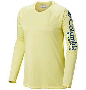 Women's PFG Tidal Tee™ Heather Long Sleeve Shirt - Plus Size