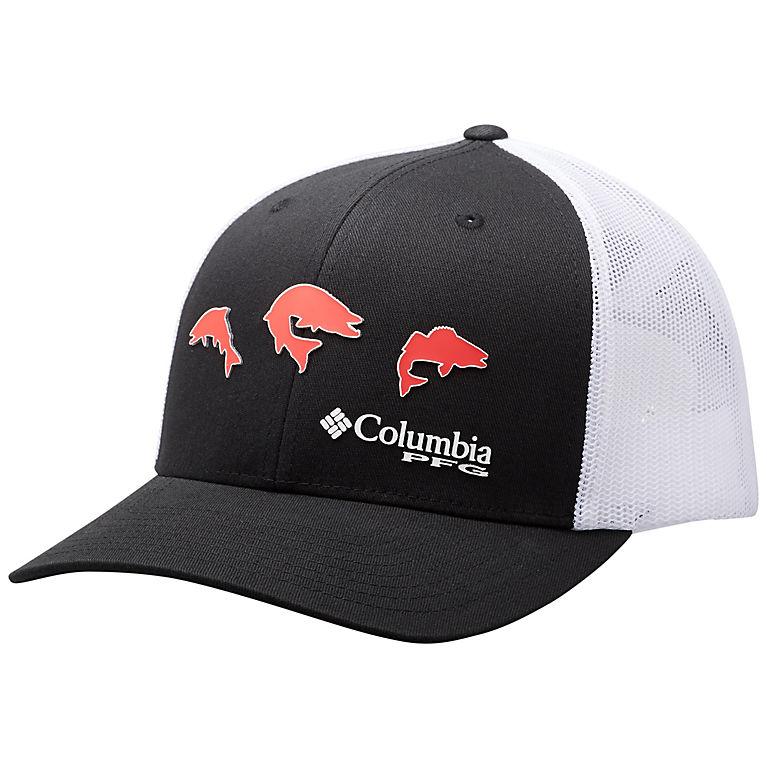 5d2e5939c5afe5 Black, Trio Fish PFG Mesh Snap Back™ Seasonal Ball Cap, View 0