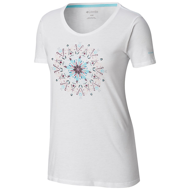 White Women's Butterfly Wing™ Medallion Tee, View 0