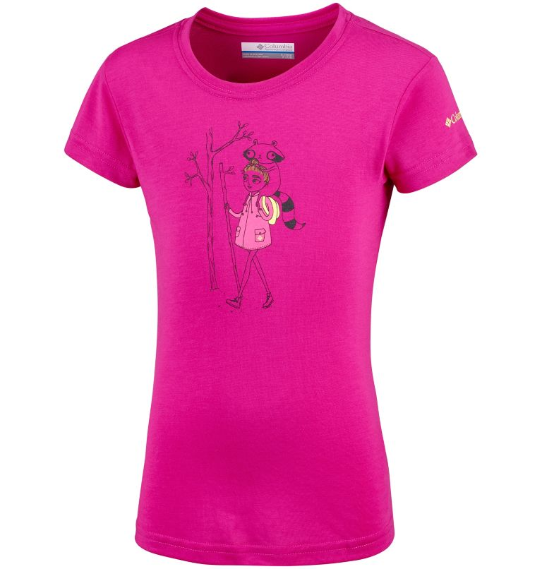 Little Canyon™ Tee   627   S T-shirt Manches Courtes Little Canyon™ Fille, Haute Pink, front