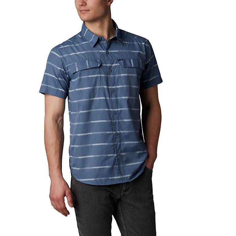 aca5f437096 Mountain Ikat Stripe Men's Silver Ridge™ 2.0 Multi Plaid Short Sleeve Shirt,  ...