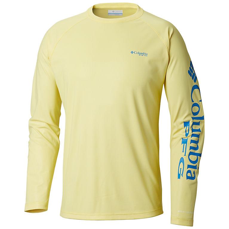 ebee1e91 Autzen, Hyper Blue Men's PFG Terminal Deflector™ Long Sleeve Shirt, ...