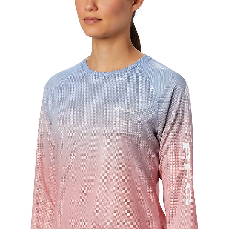 973f835d4 Vivid Blue Fade Women's PFG Tidal Deflector™ Long Sleeve Shirt, View 4