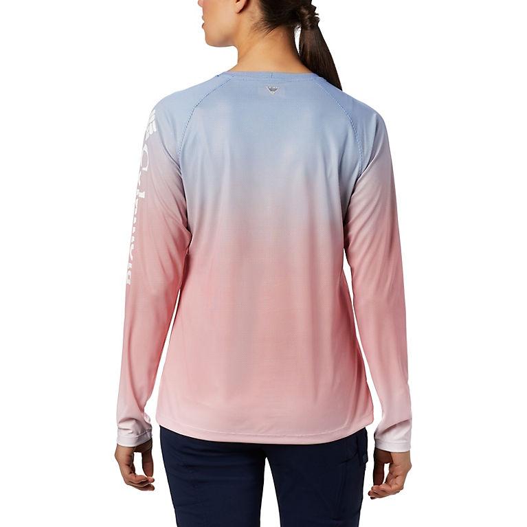 49375daafb2 Vivid Blue Fade Women s PFG Tidal Deflector™ Long Sleeve Shirt