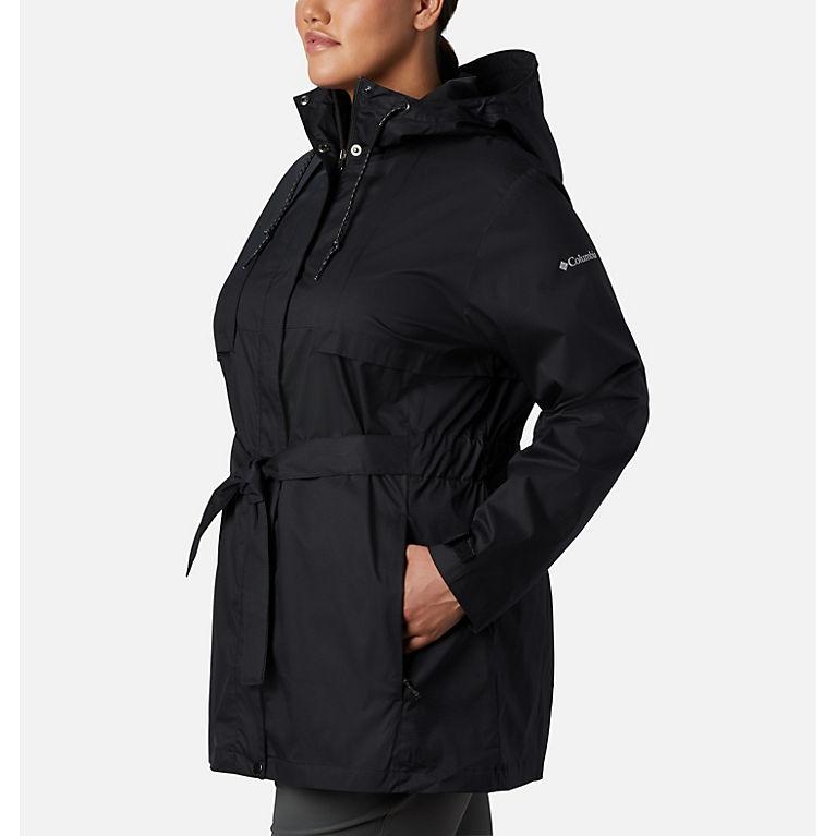 8ed25b78739 Black Women s Pardon My Trench™ Rain Jacket—Plus Size