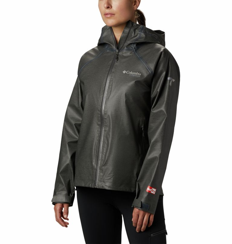 OutDry Ex™ Reign™ Jacket | 030 | M Giacca OutDry Ex™ Reign™ da donna, Charcoal Heather, front