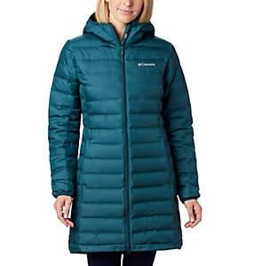 Manteau long en duvet à capuchon Lake 22™ pour femme