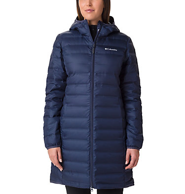 Women's Lake 22 Down Long Hooded Jacket , front