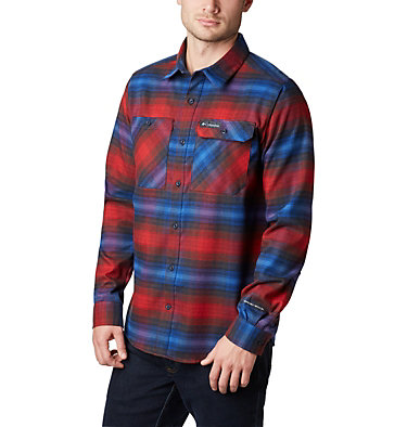 Men's Outdoor Elements Stretch Flannel Shirt , front