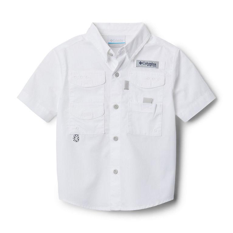 6d8e9d229a3 White Boys' Toddler PFG Bonehead™ Short Sleeve Shirt, View 0