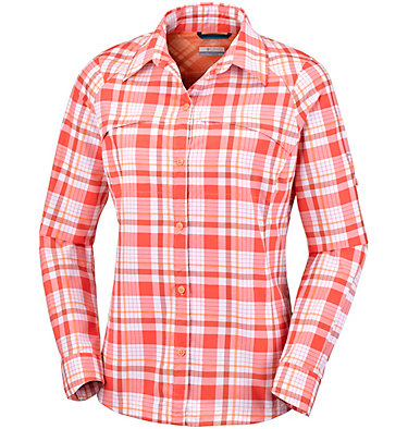 Women's Silver Ridge™ Plaid Long Sleeve Shirt , front