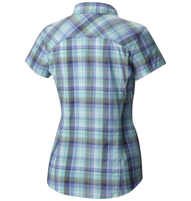 Women's Silver Ridge™ Multi Plaid Short Sleeve Shirt Women's Silver Ridge™ Multi Plaid Short Sleeve Shirt, back