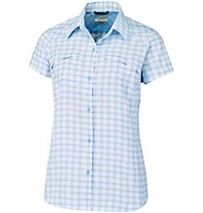 Camicia a maniche corte con motivo scozzese Silver Ridge™ da donna