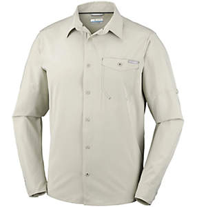 Camisa lisa de manga larga Triple Canyon™ para hombre