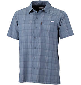 Camiseta de manga corta a cuadros Silver Ridge™ para hombre